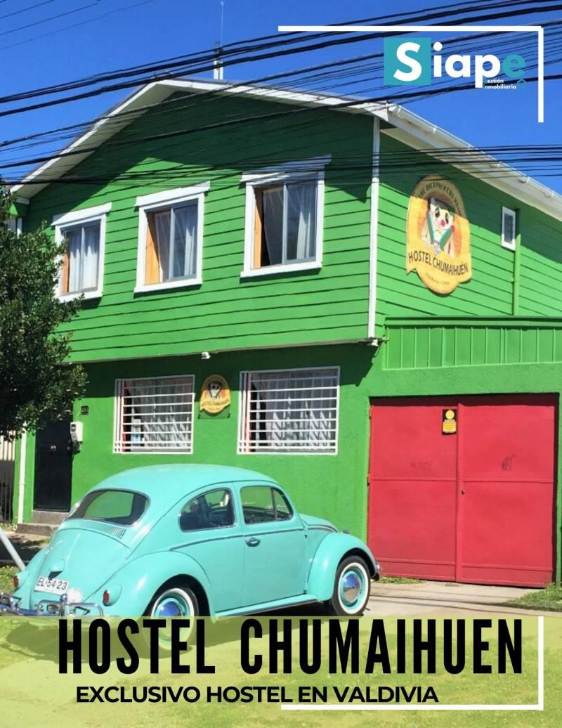 HOSTEL A UN 65% DE SU VALOR COMERCIAL APASOS DEL CENTRO - VALDIVIA