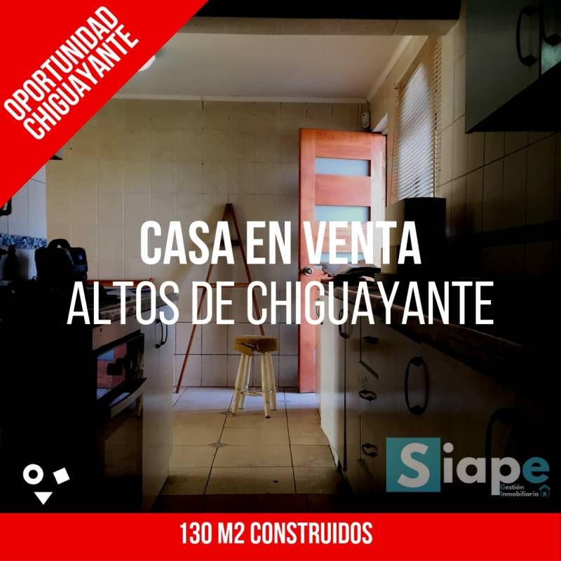 CASA DE 130 M2 APROX. EN EL SECTOR ALTOS DE CHIGUAYANTE - CHIGUAYANTE