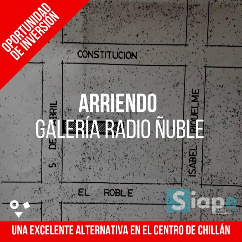 ARRIENDO DE GALERÍA RADIO ÑUBLE 12 LOCALES COMERCIALES EN CHILLÁN