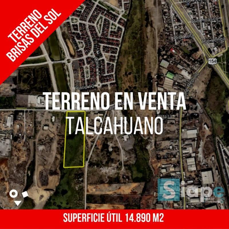 TERRENO DE 14.890 M2 EN SECTOR BRISAS DEL SOL - TALCAHUANO