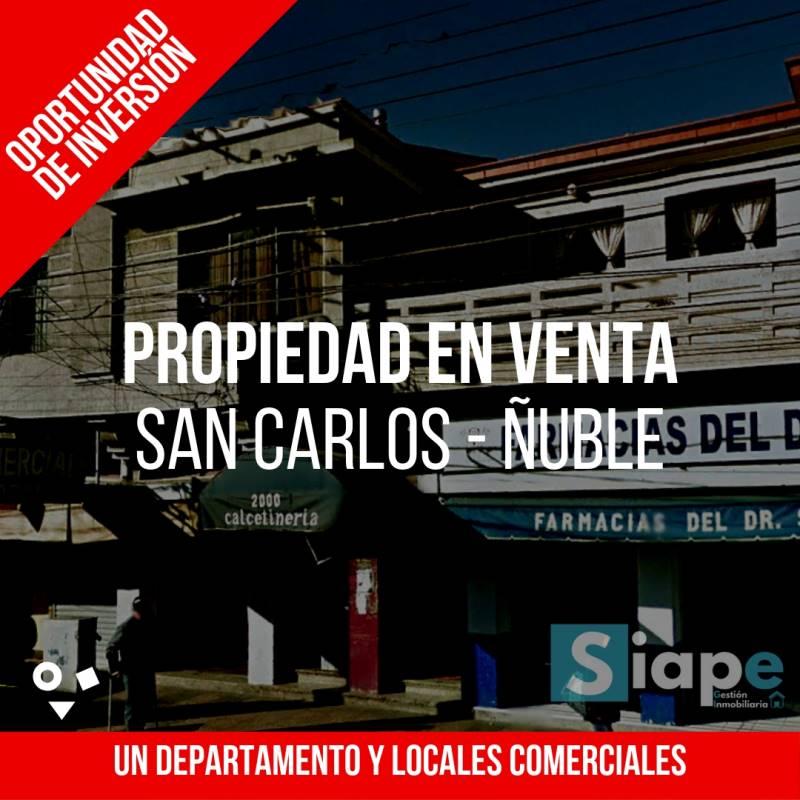 3 LOCALES COMERCIALES, DEPARTAMENTOS Y GRAN TERRENO FRENTE A PLAZA DE  SAN CARLOS