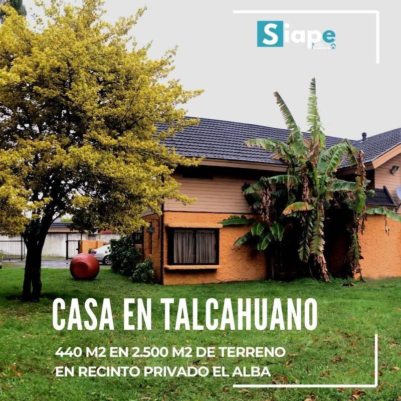 CASA DE 440 M2 EN EXCLUSIVO SECTOR EL ALBA - TALCAHUANO