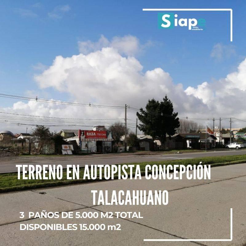 TERRENO DE 15.530 M2 EN AUTOPISTA CONCEPCIÓN - TALCAHUANO