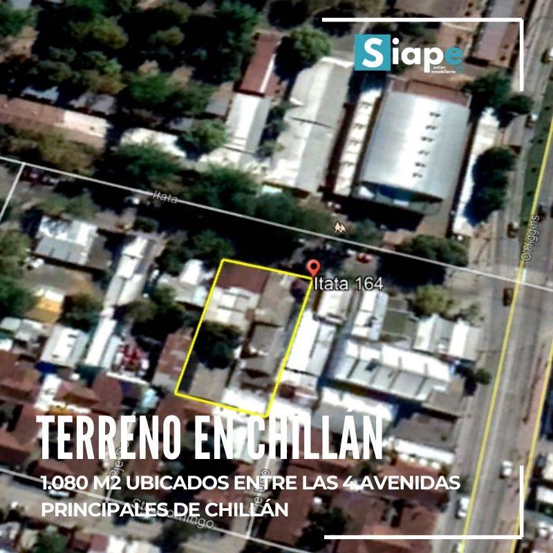 TERRENO DE 1.080 M2 EN CALLE ITATA - CHILLÁN