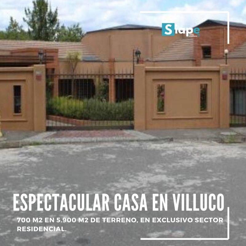 CASA DE 700 M2 EN 5.900 M2 DE TERRENO EN VILLUCO - CHIGUAYANTE