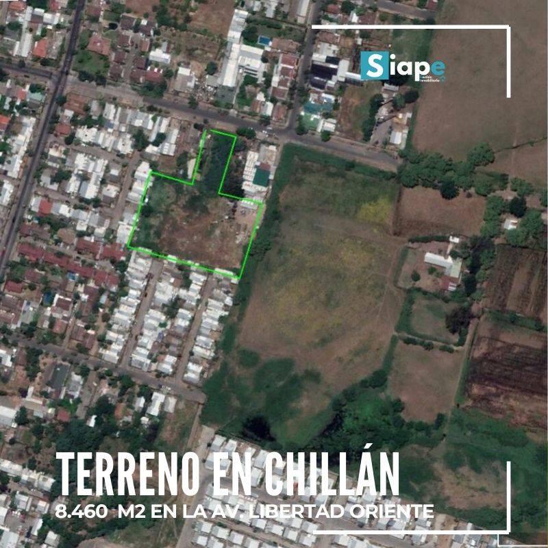 TERRENO EN CHILLÁN  8.460 M2 EN AV. LIBERTAD ORIENTE