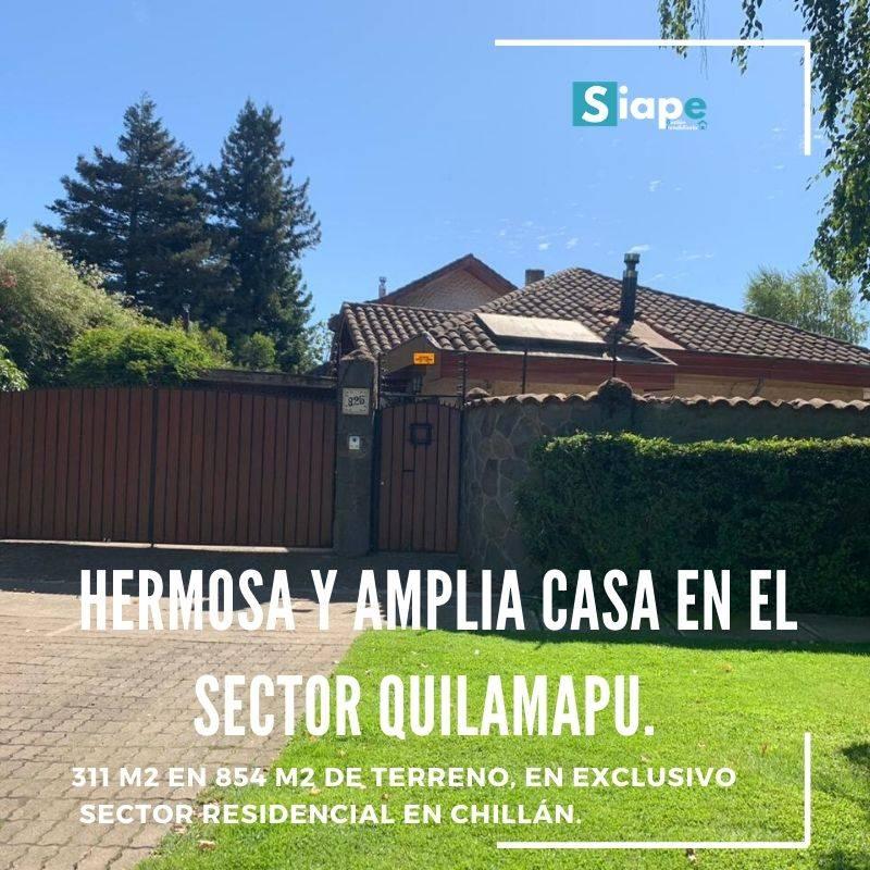 VENDEMOS HERMOSA Y AMPLIA CASA EN EL SECTOR QUILAMA CHILLÁN.PU