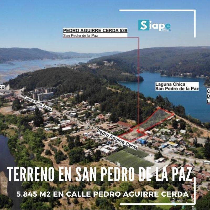 TERRENO DE 5.845 M2 EN SAN PEDRO DE LA PAZ.