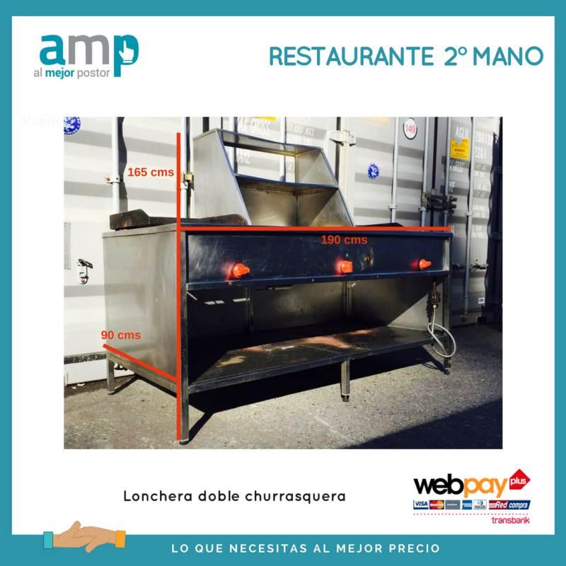 Venta de lonchera doble churrasquera mobiliario for Mobiliario hosteleria segunda mano